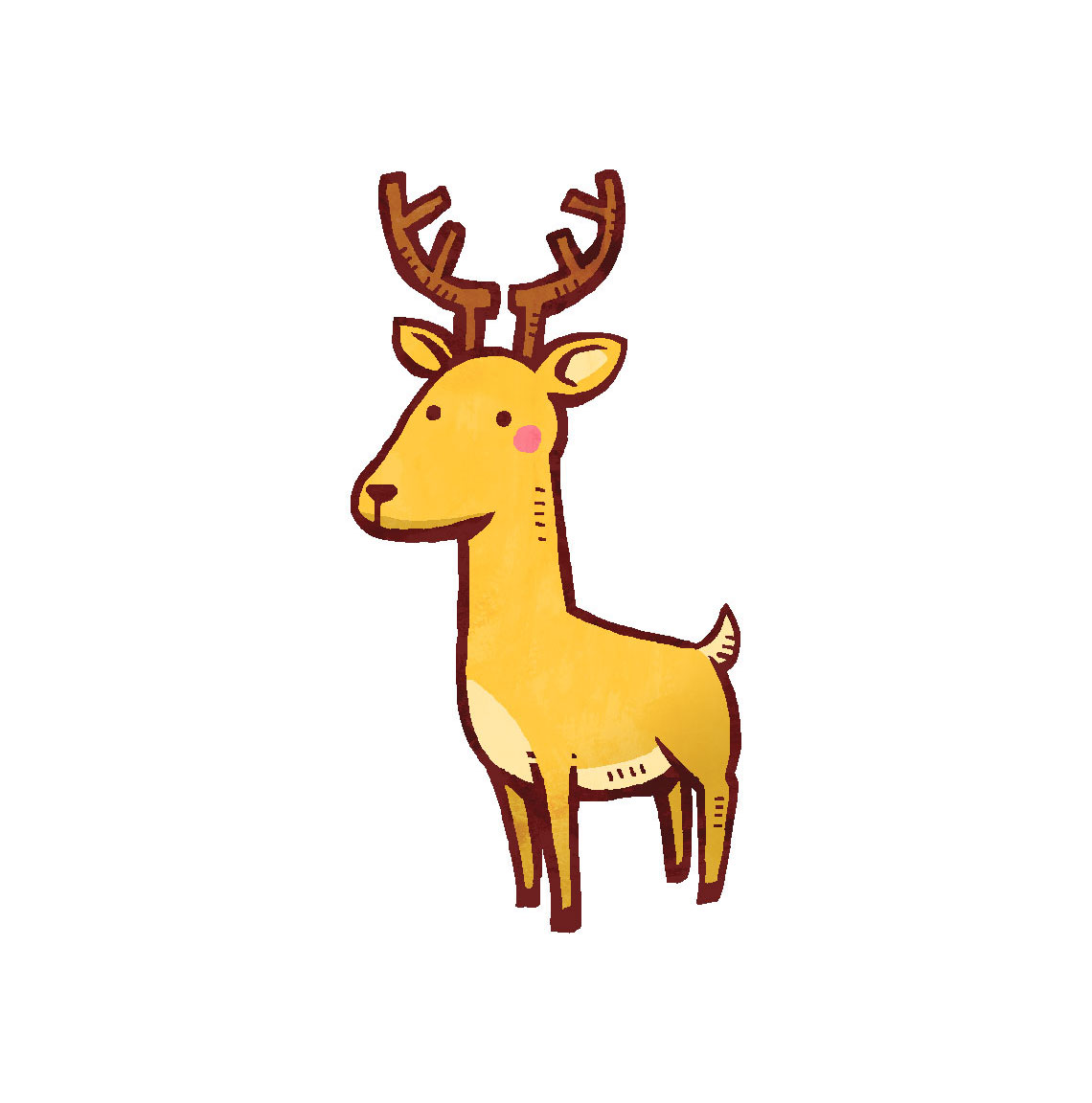たたずむ鹿