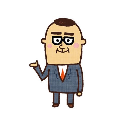 案内するビジネスマン