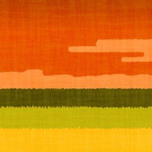 地平線 草原-夕焼け
