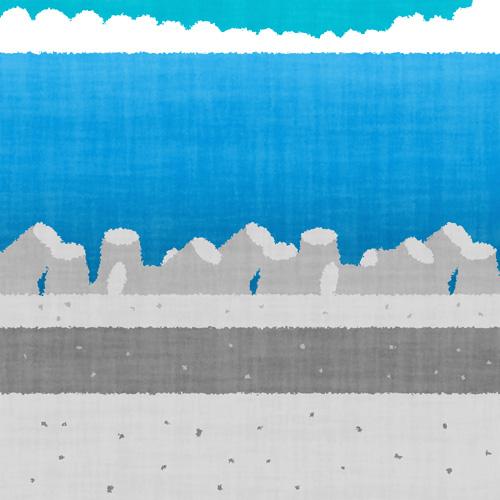 テトラポットのある海岸(風景)