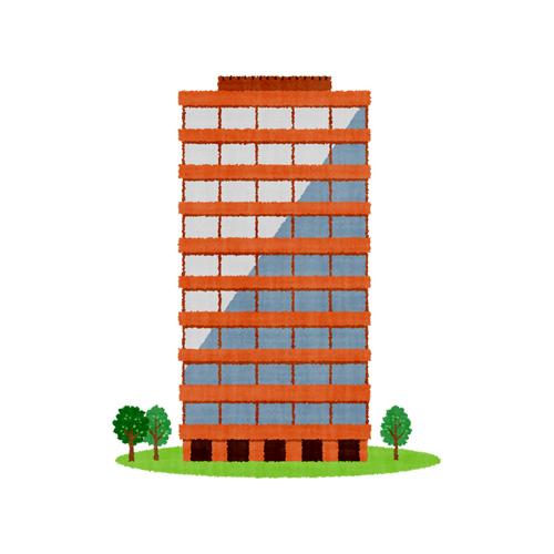 レンガ色のオフィスビル