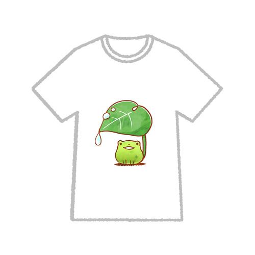 カエル柄のTシャツ