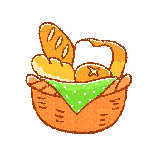 カゴに色々なパン