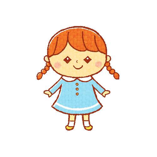 おさげの女の子 (三つ編み)