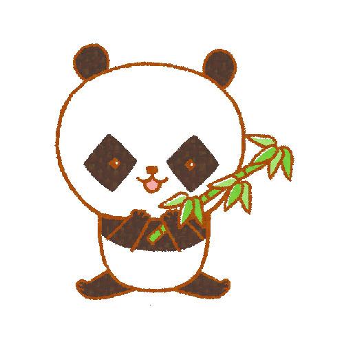 笹を持つパンダ