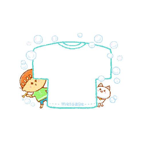 Tシャツ型メモ