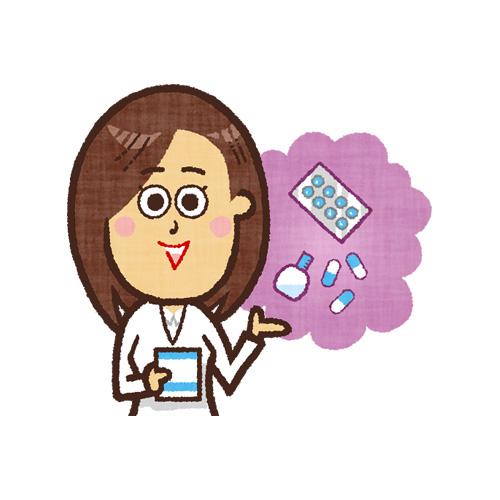 薬の説明をする薬剤師さん2(女性)