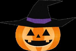 帽子をかぶったハロウィン かぼちゃ