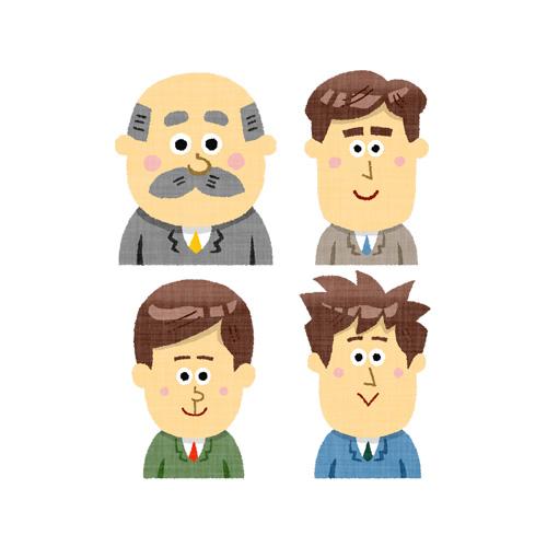 4人のビジネスマン(上半身)