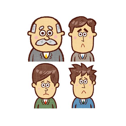 困り顔のビジネスマン
