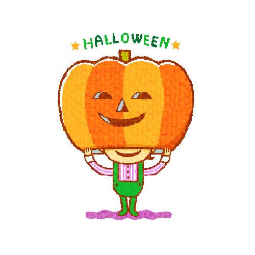 ハロウィン かぼちゃおばけ