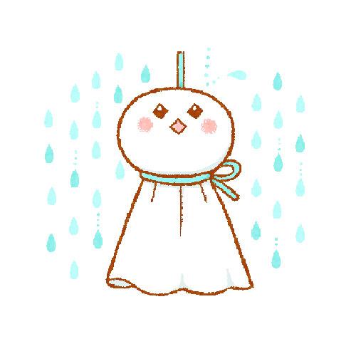てるてるぼうず(雨降り)